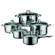 ELO Cookware Skyline Stainless Steel Kitchen Induction Cookware Pots and Pans Set with Air...