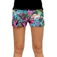 LoudMouth Ladies Pink Flamingos Mini Shorts【ゴルフ レディース>パンツ】