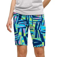 LoudMouth Ladies Tiki Bar Blue Bermuda Shorts【ゴルフ レディース>パンツ】