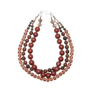 【Theory】Kong qi Color Stone Necklace 一連ずつ異なるストーンをデザインした三連ネックレス。 その他 大人 セオリー