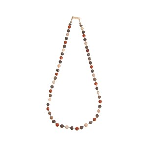 【Theory】Kong qi Color Stone Necklace 表情の異なる数種類のストーンを繋ぎ合わせたロングネックレス。 その他 大人 セオリー