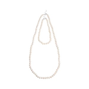 【Theory】Kong qi Pearl Necklace ショートレングス&ロング丈の二本をセットにした淡水パールネックレス。 ホワイト 大人 セオリー