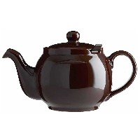 Chatsford Brown 6 cup stoneware teapot with brown filter
