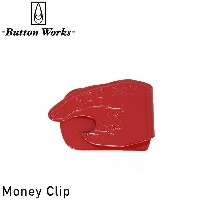 Button Works ボタンワークス YOU PAY MONEY CLIP マネークリップ [RED] メンズ 男性用 ブラス レッド MADE IN JAPAN 日本製 VENICE 8...