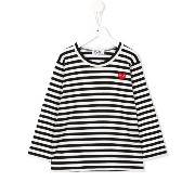 Comme Des Garçons Play Kids ボーダー柄 Tシャツ