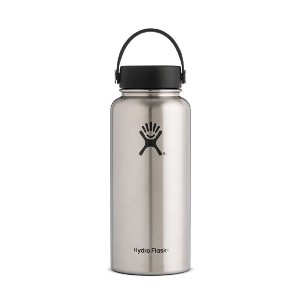 Hydro Flask ハイドロフラスク Insulated Wide Mouth Stainless Steel Water Bottle 32 oz オンス, ステンレス [並行輸入品]