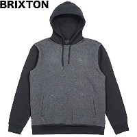 Brixton Malcolm Pullover Hoodie Charcoal Heather/Black S パーカー 並行輸入品