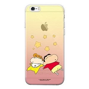 【 iPhone 6 6S ケース 】【 アイフォン 6 6S カバー 】 【★フィルム付き/日本国内発送】 iPhone6 iPhone6S クレヨンしんちゃん 透明 クリア ゼリー ケース ...