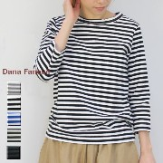 Dana Faneuil(ダナファヌル)ボーダー 七分袖 クルー 4colormade in japand-5715305-t
