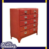 2 COLUMNS BY 5DRAWERS RED