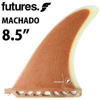 "ロングボード用フィン FUTURES. FIN MACHADO 8.5"" RUST / CLEAR"