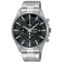 Seiko Men's SNDC81 Stainless Steel Analog with Black Dial Watch【並行輸入】