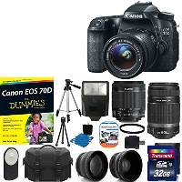Canon EOS 70D 20.2 MP デジタル SLR Camera with デュアル ピクセル CMOS AF Full HD 1080p ビデオ with ムービー and EF-S...
