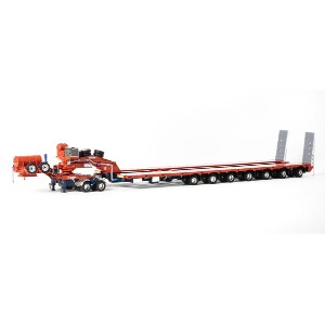 Drake 2x8 Dolly and 7x8 Steerable Low Loader Trailer in Orange and Blue トレーラー /DRAKE 建設機械模型 工事車両 1...