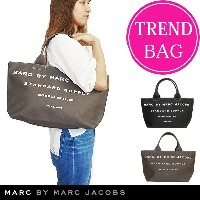 【J-pia価格】マークバイマークジェイコブス トートバッグ MARC BY MARC JACOBS トート バッグ ファスナー付き コットン キャンバス Classic Standard...