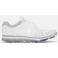 Under Armour Tempo Tour Golf Shoesメンズ White/Metallic Silver アンダーアーマー ゴルフシューズ