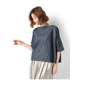 ■HELIOPOLE別注■ Traditional Weatherwear ビッグマリン ボートネックシャツ【エリオポール/heliopole Tシャツ・カットソー】