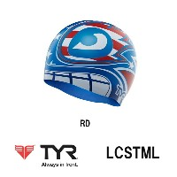【LCSTML】TYR(ティア) プリントシリコンキャップ【THE MASKED LIBERATOR】[水泳帽/スイムキャップ/スイミング/プール/水泳小物]