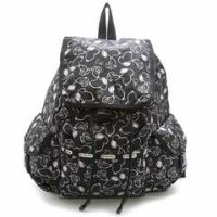 LeSportsac レスポートサックスヌーピー Voyager Backpack リュックサック Snoopy Shuffle Black 7839-P711【f】【新品/未使用/正規品】