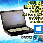 Windows10★【中古】 ノートパソコン 富士通(FUJITSU) FMV LIFEBOOK A8290 Windows7 15.6インチ Core 2 Duo P8700 2.53GHz...