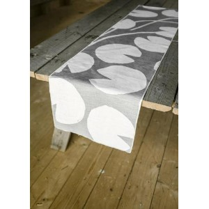 FINE LITTLE DAY | WATER LILIES TABLE RUNNER - GREY/WHITE | テーブルランナー