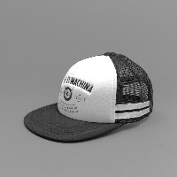 Deus Ex Machina Fast Bandit Trucker Black White