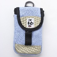 CHUMS チャムス Mobile Patched Case Sweat Nylon CH60-2364 (H-Sax/Beige)