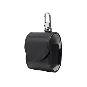 airpods ケース カバー 本革 (BLACK)【HANSMARE ITALY LEATHER AIR PODS CASE】収納バッグ ストラップ 収納 バッグ ポーチ キーホルダー 持ち運び...