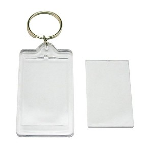 10 Pcs Transparent Clear Acrylic Blank DIY Photo Picture Frame Key Chains Key Ring Keychain,...