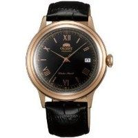 腕時計 Orient ER24008B Men's Bambino Black Dial Leather Strap Automatic Watch【並行輸入品】