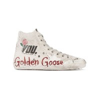 Golden Goose Deluxe Brand - Francy ハイカットスニーカー - women - コットン/レザー/Canvas/rubber - 41