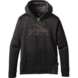 パタゴニア Patagonia メンズ トップス トレーナー・パーカー【Flying Fish PolyCycle Pullover Hoodie】Black/Ink Black