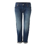 リーバイス レディース ボトムス ジーンズ【Levi's 501 boyfriend fit tapered jean in roasted indigo】Indigo
