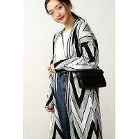 【AZUL by moussy】アクリルコットン羽二重柄ニットカーデ AZUL by moussy / アズール バイ マウジー【MARKDOWN】