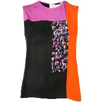 Versace colour block blouse