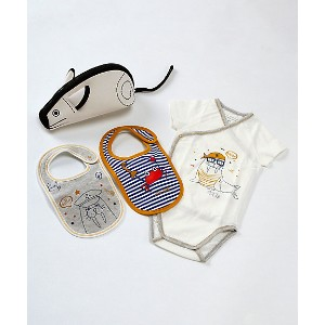 <LITTLE MARC JACOBS> ロンパースセット オフホワイト その他