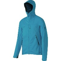 マムート Mammut メンズ アウター ジャケット【Ultimate Hooded Softshell Jacket】Atlantic/Imperial