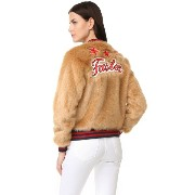 マザー MOTHER レディース アウター ジャケット【The Letterman Patch Faux Fur Jacket】The Fast & The Curious