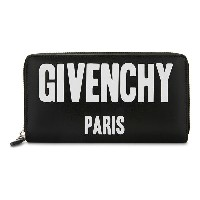 ジバンシー givenchy レディース アクセサリー 財布【logo leather zip-around purse】Black white