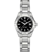 タグ ホイヤー tag heuer レディース アクセサリー 腕時計【way1410.ba0920 aquaracer stainless steel and leather watch】Black