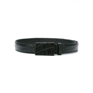 Egrey - texturized belt - women - レザー - P