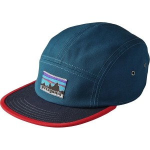 パタゴニア レディース 帽子 アクセサリー Patagonia Retro Fitz Roy Label Tradesmith 5-Panel Cap Big Sur Blue
