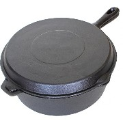 Cajun Cookware Seasoned Cast Iron Combo Cooker 6 Qt by Cajun Cookware [並行輸入品]