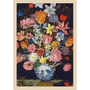 【DMC】 クロスステッチ 刺繍キット BL1112/71 Ambrosius Bosschaert the Elder - A Still Life of Flowers in a Wan-Li...