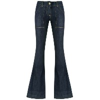 Andrea Bogosian - flared denim pants - women - コットン/スパンデックス - P