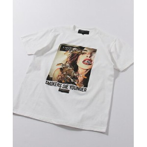 LIBERTY CITY(リバティーシティ) [SMOKING DIE YOUNGER] TEE WHITE[171103LC]