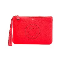 Anya Hindmarch - clutch bag - women - レザー - ワンサイズ