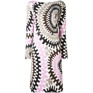 Emilio Pucci - Bersaglio print long sleeve dress - women - シルク/ビスコース - 42