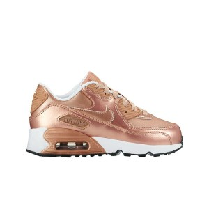 NIKE AIR MAX 90 SE LTR PS (ナイキ エア マックス 90 SE レザー PS)METALLIC RED BRONZE/METALLIC RED BRONZE【キッズ...