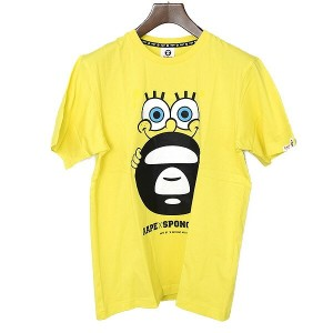 Aape By A Bathing Ape エーエイプバイアベイシングエイプ ×SUPONGEBOB/Tシャツ イエロー M